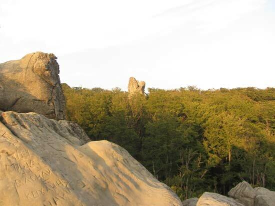 Скалы Довбуша вид на горы